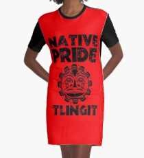 NATIVE PRIDE TLINGIT Graphic T-Shirt Dress