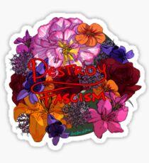 Antifascist Flower Language Sticker