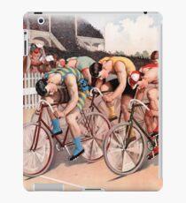 Vintage Bicycle Race Scene iPad Case/Skin