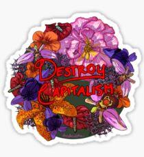 Anticapitalist Flower Language Sticker