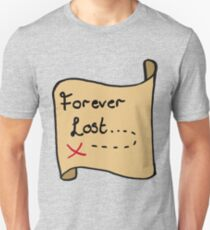Forever Lost on Old Map Unisex T-Shirt