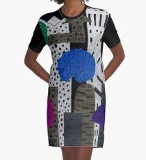 Invasion at Night Graphic T-Shirt Dress