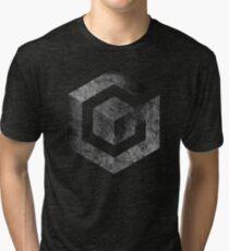 °GEEK° Gamecube B&W Logo Tri-blend T-Shirt