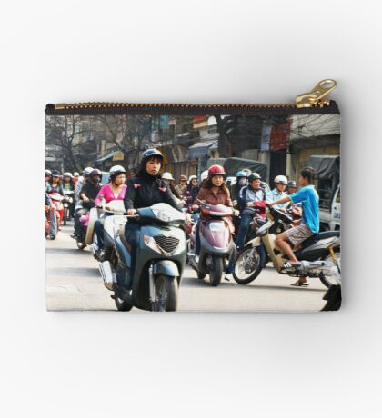 Wrong Way - Hanoi traffic, North Vietnam Studio Pouch