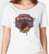 RotorWash Brewing Co. - Lean'n Lager Skycrane Women's Relaxed Fit T-Shirt
