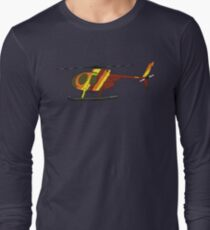 Hughes 500D Helicopter Long Sleeve T-Shirt