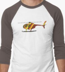 Hughes 500D Helicopter Men's Baseball ¾ T-Shirt