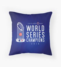 Chicago Cubs Champions 3 Throw Pillow
