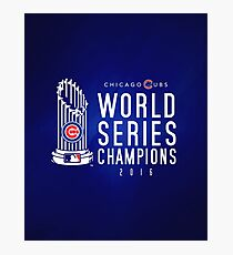 Chicago Cubs Champions 3 Photographic Print