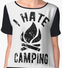 I Hate Camping Chiffon Top