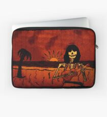 Ukulele Lady Postcard Laptop Sleeve
