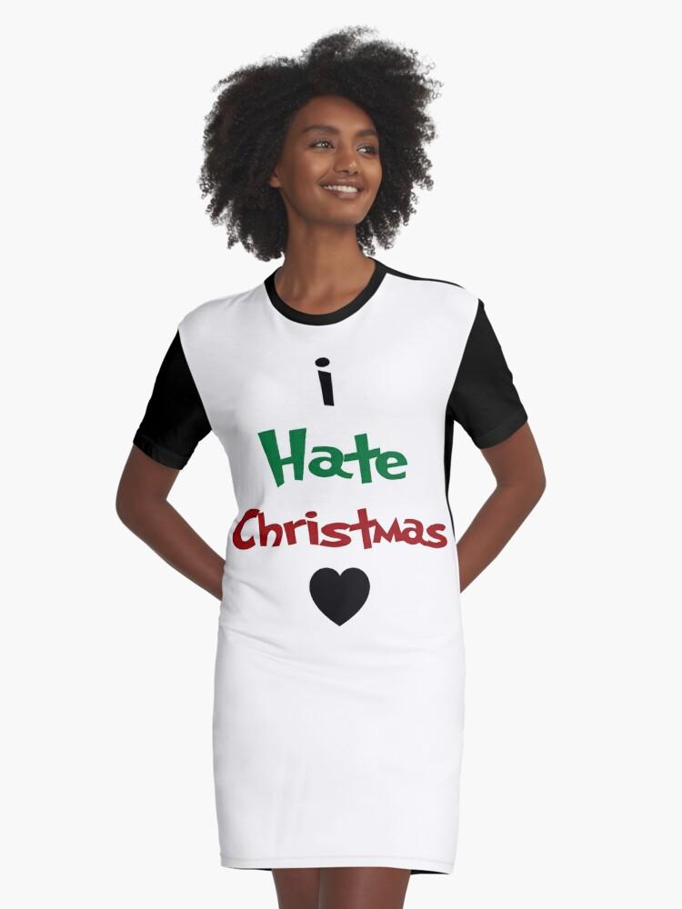 I Hate Christmas Grinch Ugly Sweater Holidays Xmas Black Heart