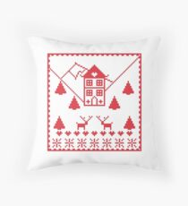 Scandi Christmas Throw Pillow