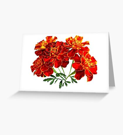 Bouquet of Marigolds Greeting Card
