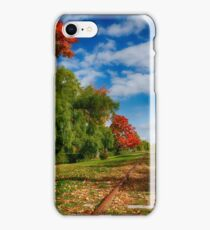 Railroad Tracks at Grand-Pre National Historic Site iPhone Case/Skin