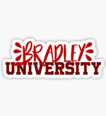 Bradley University ~text~ Sticker