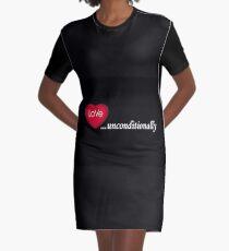 Love Unconditionally Graphic T-Shirt Dress