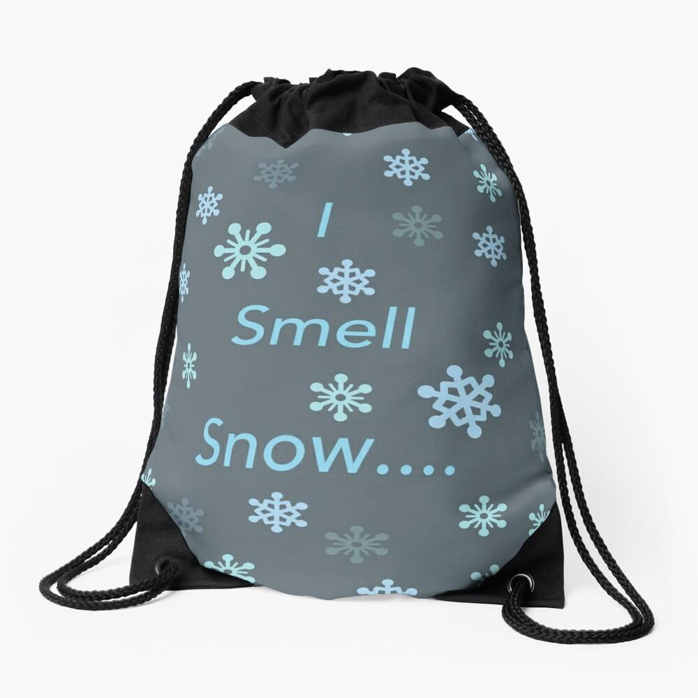 I Smell Snow Drawstring Bag