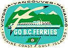 BC Ferries Victoria Vancouver Vintage Travel Decal by hilda74