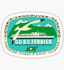 BC Ferries Victoria Vancouver Vintage Travel Decal Sticker