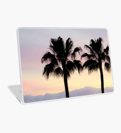 Palm trees at sunrise Laptop Skin