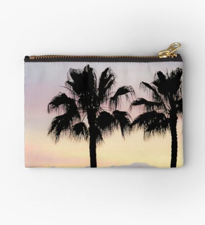 Palm trees at sunrise Zipper Pouch