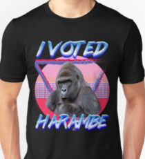 I VOTED HARAMBE Vintage T-shirt Unisex T-Shirt