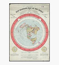 Flat Earth Photographic Print