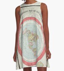 Flache Erde A-Linien Kleid