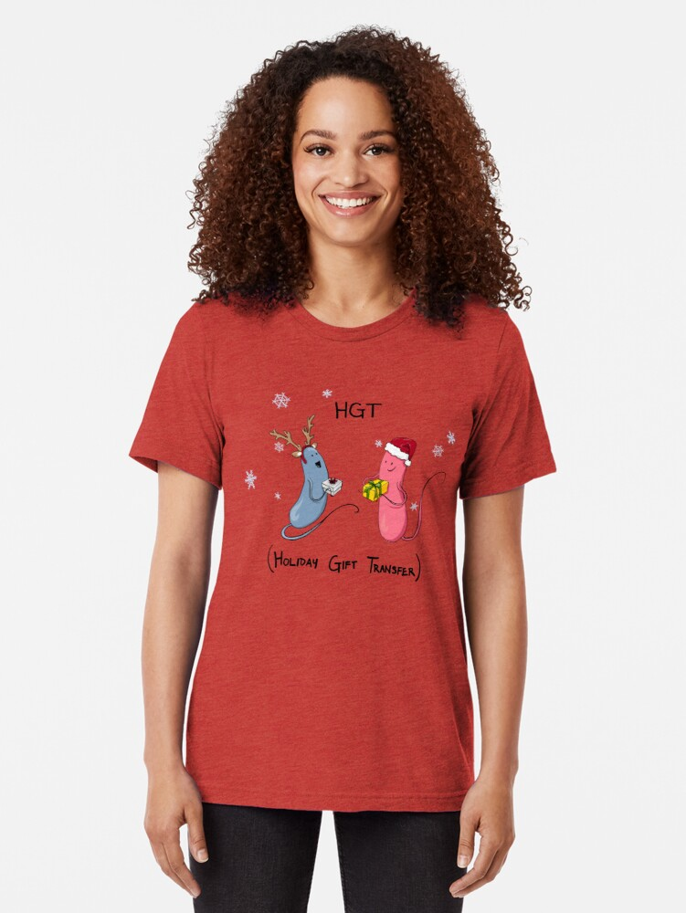 Alternate view of Holiday Bacteria HGT Tri-blend T-Shirt