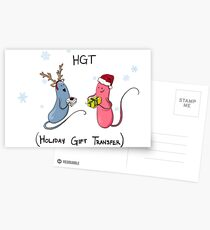 Holiday Bacteria HGT Postcards
