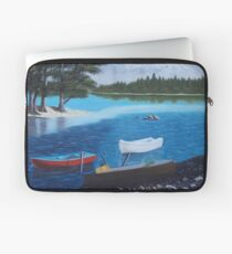 Boats on a Lake Laptop Sleeve