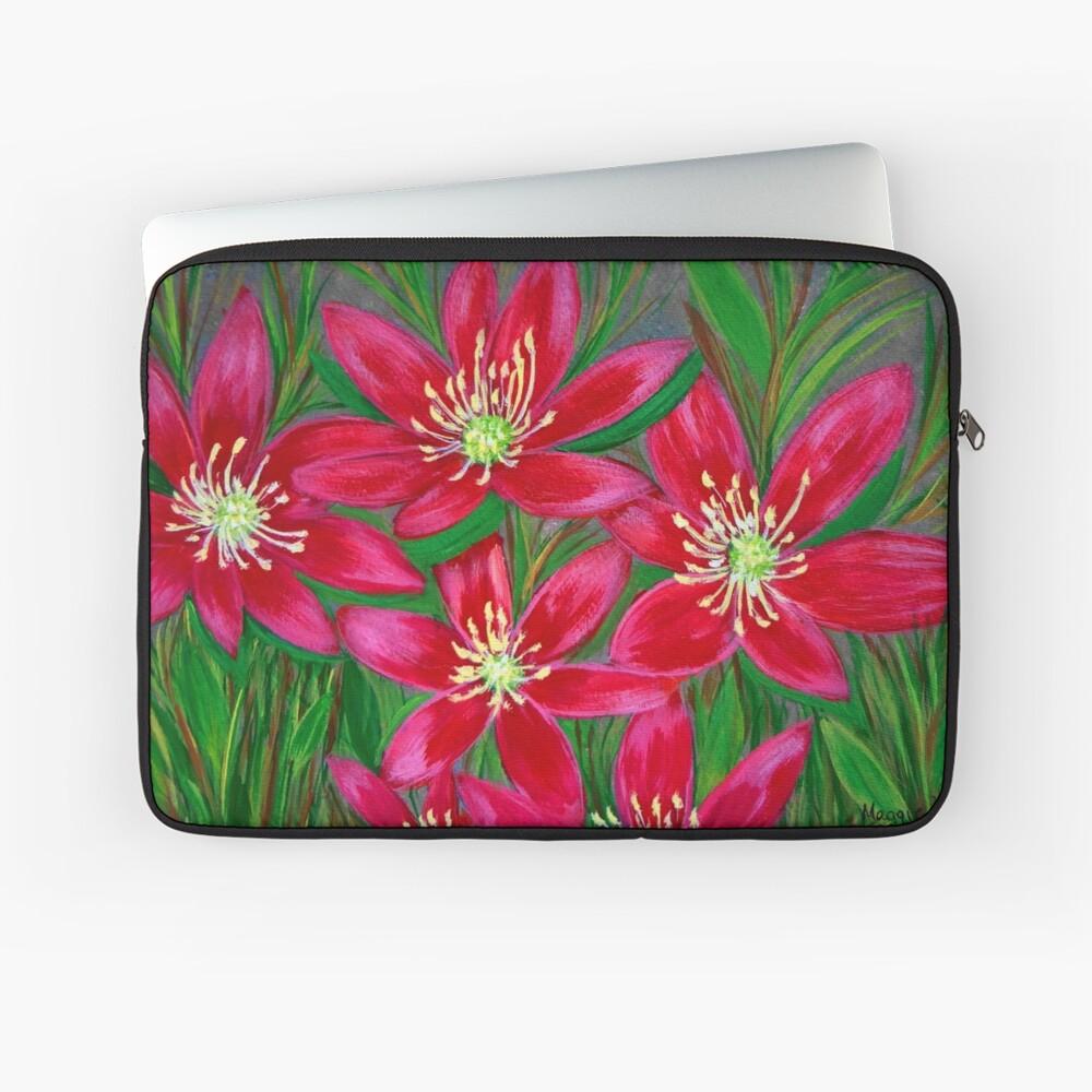 Hot pink flowers Laptop Sleeve