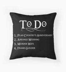 Princess Bride To Do List - White Lettering Throw Pillow