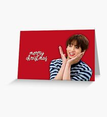 Tarjeta de felicitación BTS Jungkook Tarjeta de Navidad