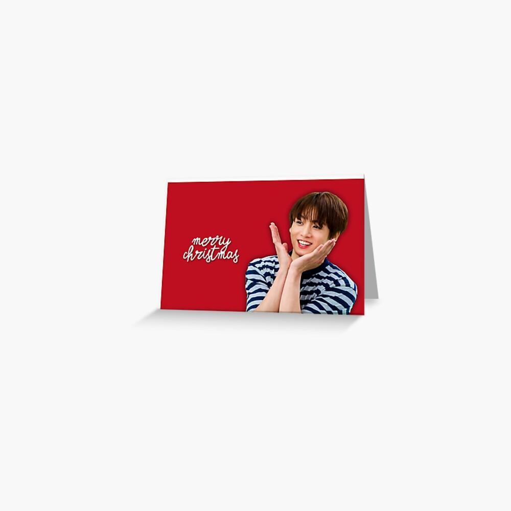 BTS Jungkook Weihnachtskarte Grußkarte