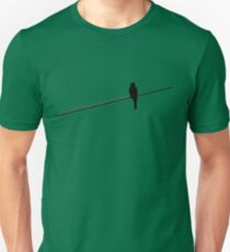 Bird on a wire Unisex T-Shirt
