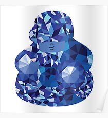 Crystallized Sapphire Poster