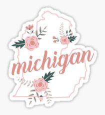 Michigan Floral Sticker