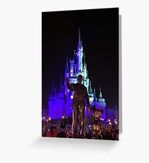 Walt and Mickey (Night) Greeting Card