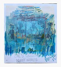 She's Crossing Muddy Waters Photographic Print