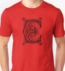 Old print ornament letter E Unisex T-Shirt