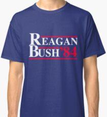 Reagan Bush '84 Retro Logo Red White Blue Election Ronald George 1984 84 Classic T-Shirt