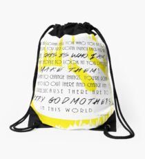 You Gotta Punch Back Drawstring Bag