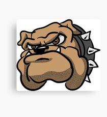 Fun Angry Cartoon Bulldog Canvas Print