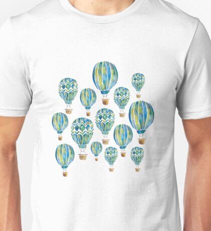 Watercolor Hot Air Balloons Unisex T-Shirt
