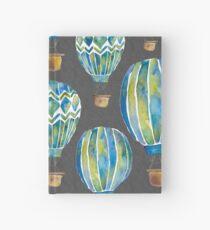 Watercolor Hot Air Balloons Hardcover Journal