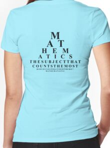 Mathematics, the subject that counts the most  Women's Fitted V-Neck T-Shirt