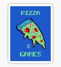 Pizza & Games Sticker