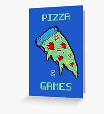 Pizza & Games Greeting Card